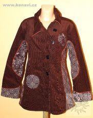 Manchesterrový kabátek BOULLEVARD s kavasovými potisky L