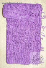 Šátek bavlněný, ručně tkaný