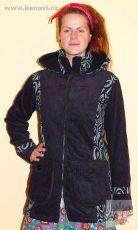 Dámský manchesterový kabátek CLAWIE s kanvasovými tisky