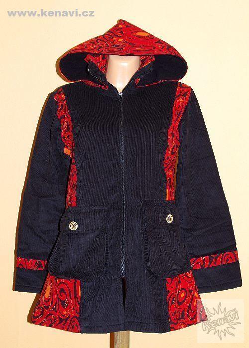 Dámský manchesterový kabátek CLAWIE s kanvasovými tisky NT0014 08 003