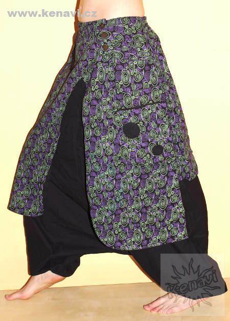 Kalhoty ASTANA bavlna, manufakturní potisk