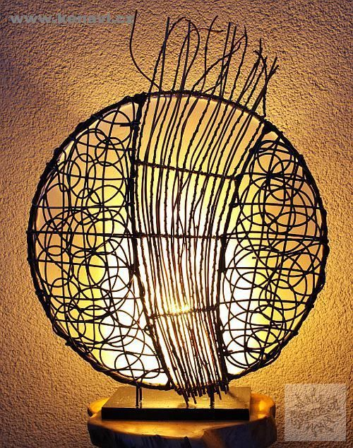 Lampa (stínítko) z přírodních materiálů, ruční výroba ID0032 02 004