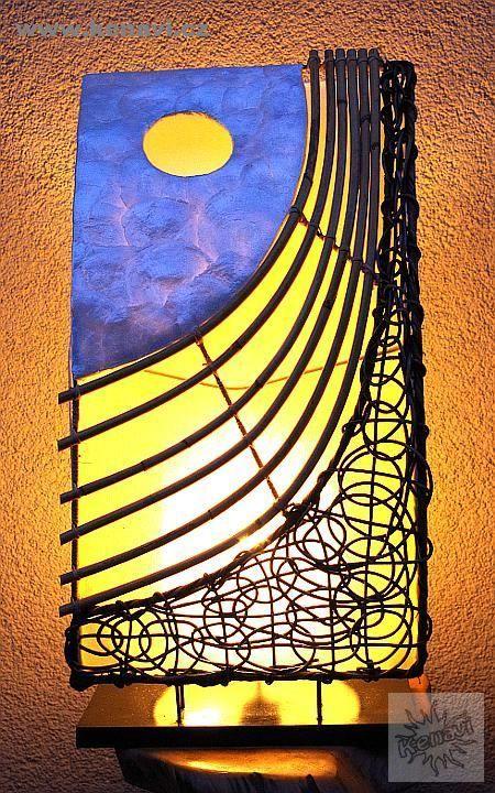 Lampa (stínítko) z přírodních materiálů, ruční výroba ID0032 02 008