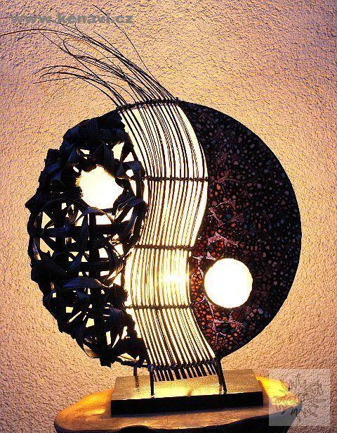 Lampa (stínítko) z přírodních materiálů, ruční výroba ID0033 02 001