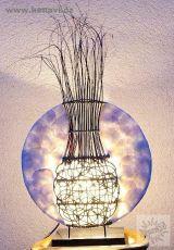 Lampa (stínítko) z přírodních materiálů, ruční výroba