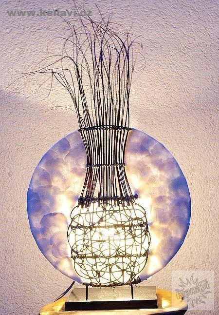 Lampa (stínítko) z přírodních materiálů, ruční výroba ID0033 02 002