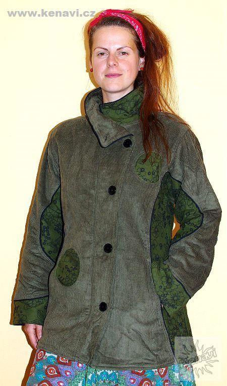 Manchesterový kabátek BOULLEVARD s kavasovými potisky NT0014 07
