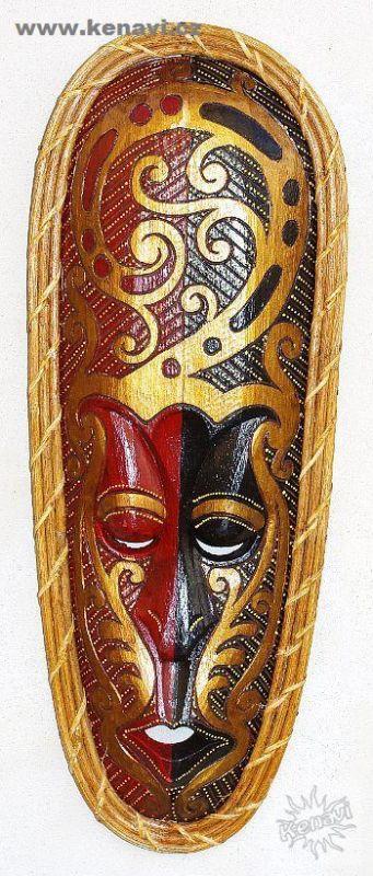 Maska 50 cm Ratan Maori