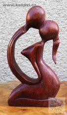 Milenci - abstrakt 20 cm dřevo suar