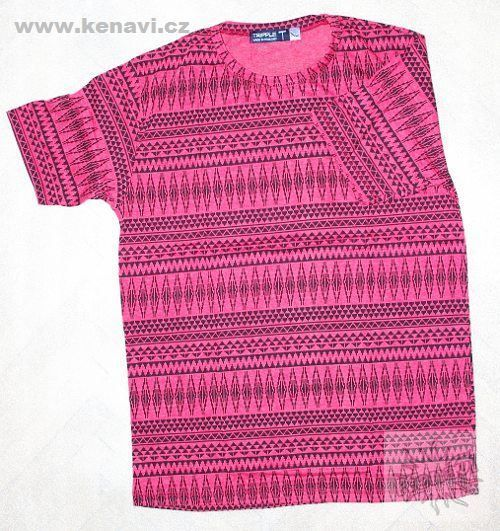Pánské tričko s ethno dekorem