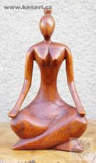 Soška Meditace - abstrakt 30 cm dřevo suar
