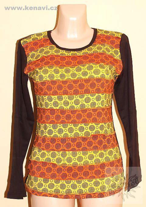 Designové tričko s dlouhým rukávem SEWY 1 NT0100 03 032 KENAVI