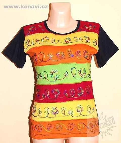 Designové tričko s krátkým rukávem SEWY 1 NT0100 02 044, Nepál KENAVI