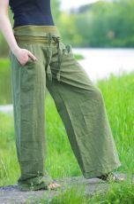 Kalhoty COMFORT TWO TONES 100% bavlna, lycrový pas