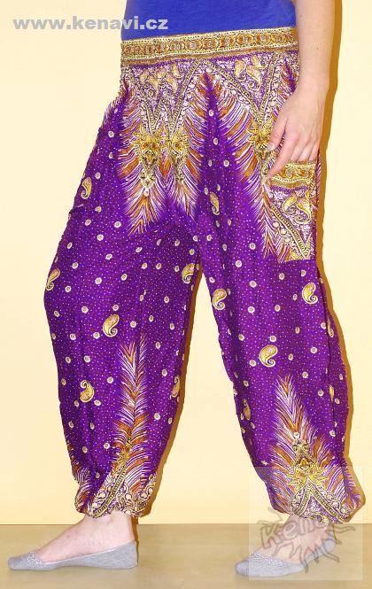 Kalhoty sultánky FLOW viskóza Thajsko TT0043-01-005