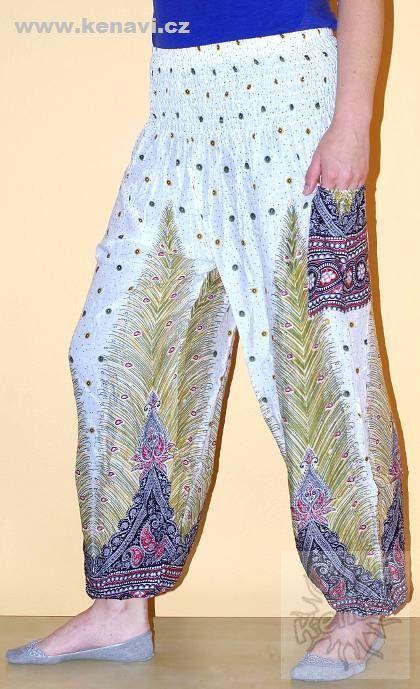 Kalhoty sultánky FLOW viskóza Thajsko