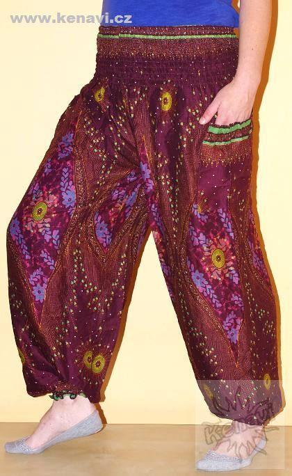 Kalhoty sultánky FLOW viskóza Thajsko TT0043-01-008