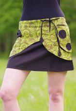 Krátká sukně ZARA, bavlna, ruční potisk, Nepál
