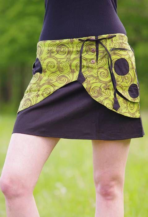 Krátká sukně ZARA, bavlna, ruční potisk, Nepál NT0056-00-003