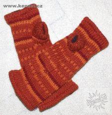Návleky na ruce (nátepníky) 100 % vlna s fleesovou podšívkou