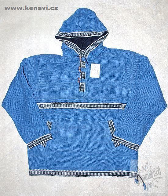 Pánská bavlněná bunda/zateplená mikina s flees podšívkou