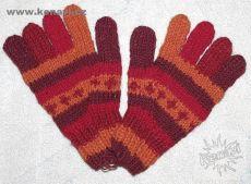 Prstové rukavice 100 % ovčí vlna