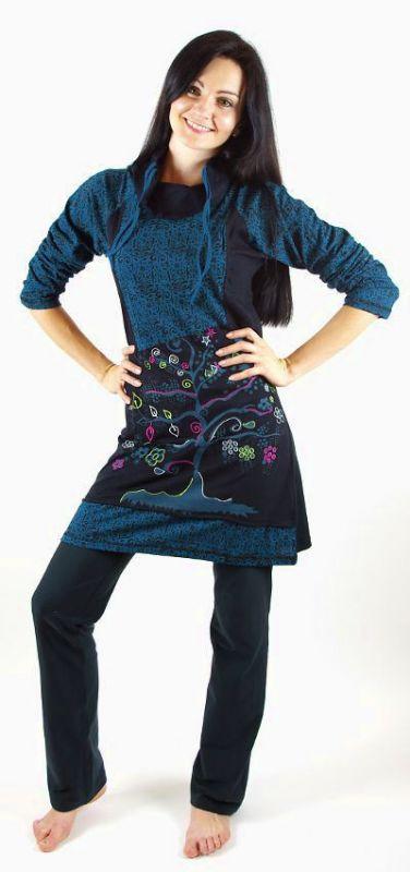 Šatová tunika MAGIC, 100% bavlna, ruční práce Nepál NT0048 000 003 KENAVI