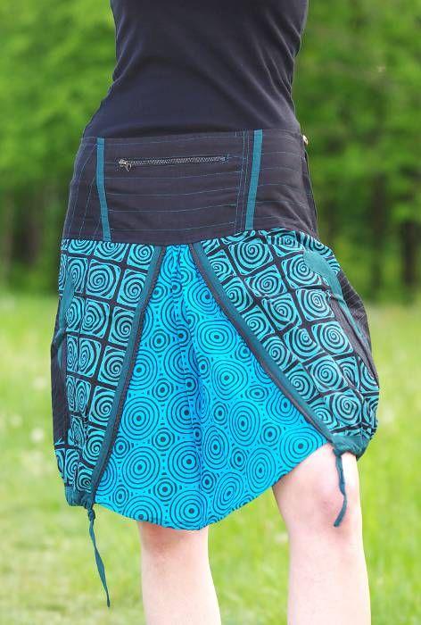 Dámská letní sukně RAVANA, ruční potisk, bavlna Nepál NT0101 07 001 KENAVI