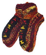 Teplé vlněné papučky s fleesem