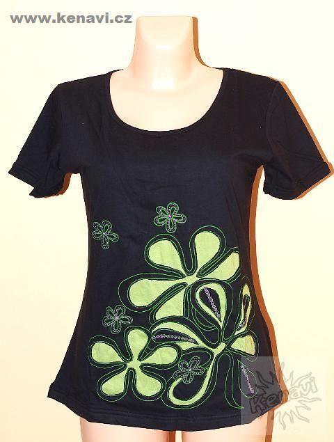 Tričko FLOWERY kr. rukáv bavlna vel. XL