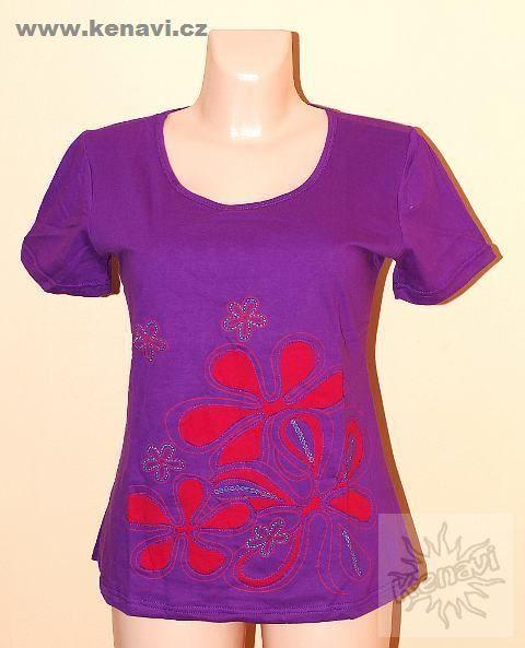 Tričko FLOWERY kr. rukáv bavlna vel. L