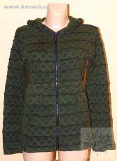 Dámská bavlněná mikina sešívaná s potiskem XL