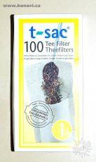 Filtry (luhovací sáčky) pro sypané čaje T-Sac velikost 1