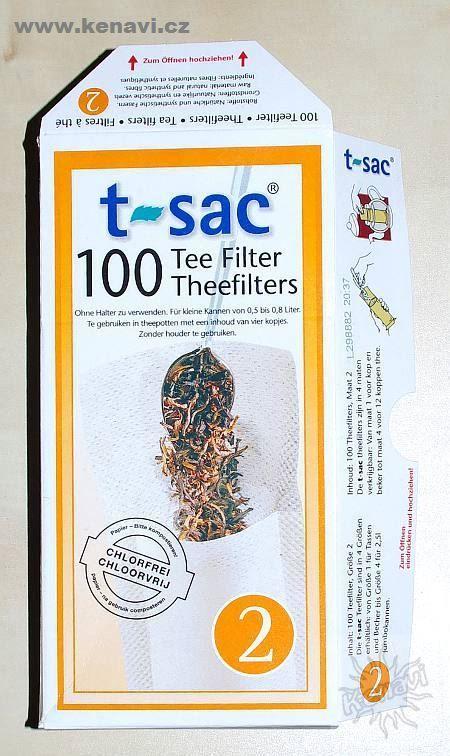 Filtry (luhovací sáčky) pro sypané čaje T-Sac velikost 2 DD0001 002