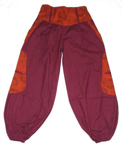 Dámské kalhoty ALINA, bavlna Nepál NT0053 17 007