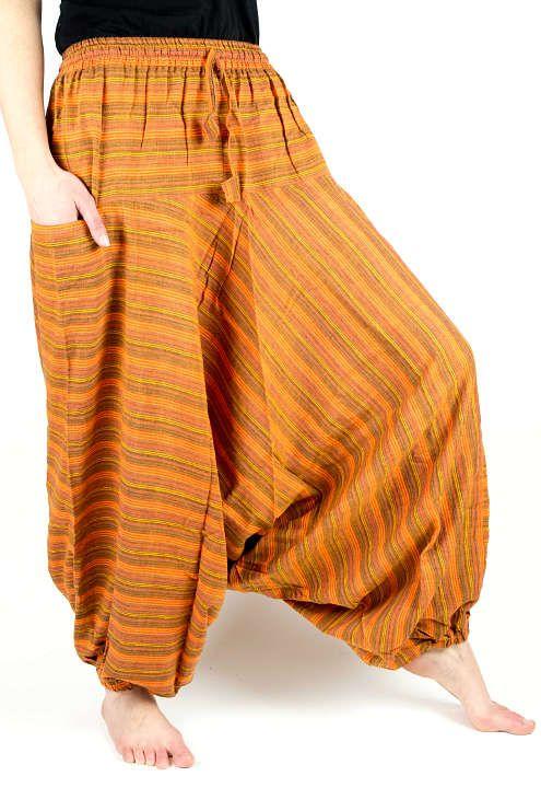 Kalhoty turecké GOLD, bavlna Nepál NT0096 03 010