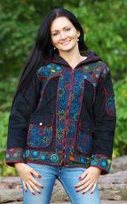 Krátký kabátek (bunda) RAVE, manchester, výšivky, Nepál