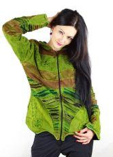 Sametová bunda PARVATI  s fleesovou podšívkou L, Nepál