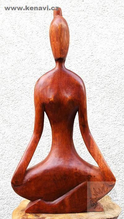 Soška abstrakt YOGA hnědá 50 cm Indonésie ID0012 007