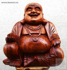 Soška Veselý Buddha (Happy Buddha) 50 cm hnědá Indonésie