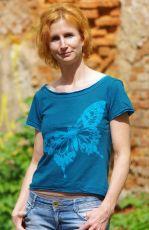 Tričko CANDY BUTTERFLY, 100% bavlna, ruční práce Nepál